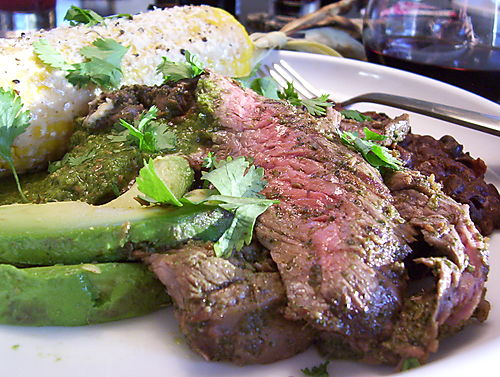 WELL FED: JALAPENO, CILANTRO, CUMIN & LIME MARINATED SKIRT STEAK