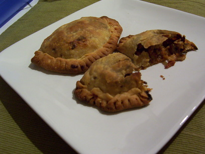 WELL FED: CHICKEN EMPANADAS WITH CHORIZO, RAISINS AND OLIVES